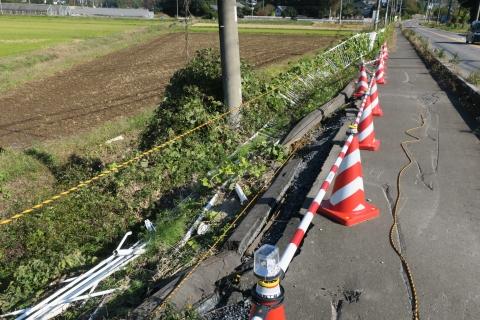 「歩道と安全柵が直りました!」下林地区②