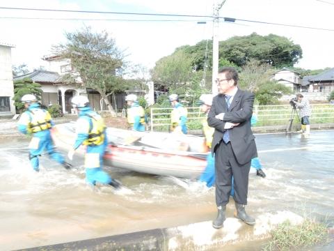 A①「恋瀬川の氾濫 レスキュー隊」