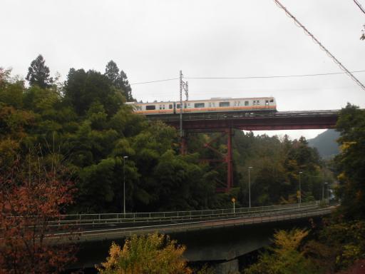 E233系と奥沢橋梁