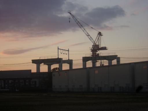 貨物新幹線のお名残撤去中