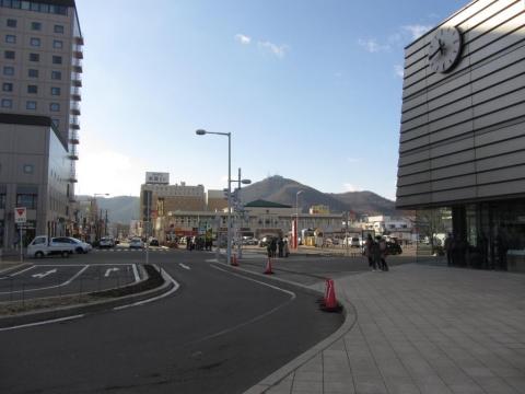 函館駅と函館山