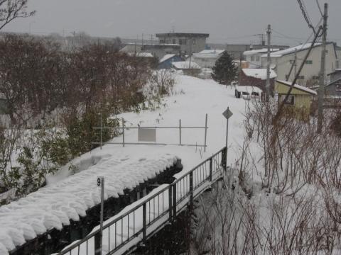箸別川橋梁と箸別駅