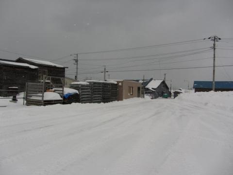 旧箸別駅前