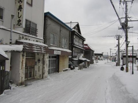旧増毛駅前