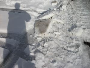 161218雪の塊