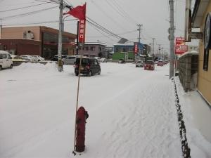 170111青森雪旗