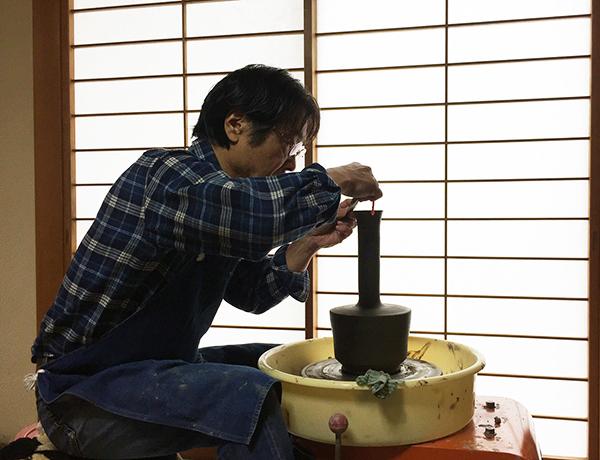 2016:11:22桜+そば釉ツル首花瓶5