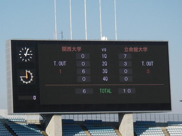 関大立命試合結果201611