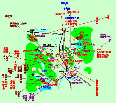 125話宇土半島基部墳の指す方向図最最終