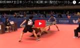 岸川聖也VS松下大星(男3回戦)全日本選手権2017