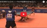 水谷隼VS及川瑞基(男5回戦)全日本選手権2017