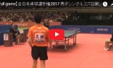 丹羽孝希VS上田仁(男6回戦)全日本選手権2017