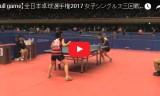 長崎美柚VS中川博子(女3回戦)全日本選手権2017