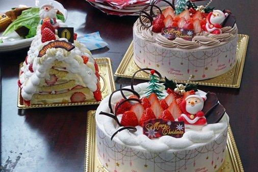 Xマス会ケーキ DSC01563