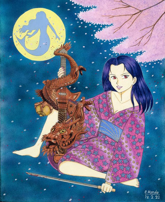 血煙人魚桜吹雪