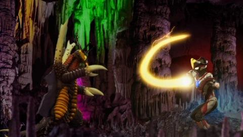 ウルトラマンビクトリー(エレキングテイル) vs アリブンタ