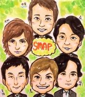 SMAP(中居正広、木村拓哉、森且行、草彅剛、香取慎吾、稲垣吾郎)