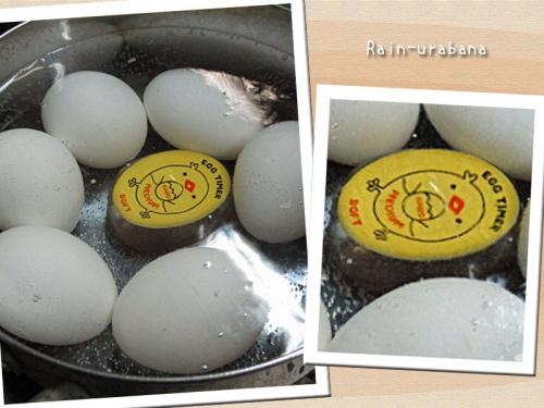 卵を茹でよう♪