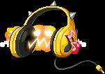 4310009黄色いヘッドフォン