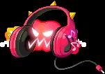 4310010赤いヘッドフォン