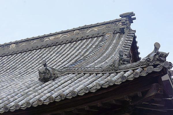 井山宝福寺方丈の鬼瓦