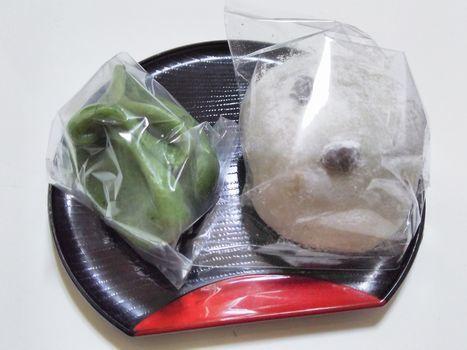 草餅と豆大福