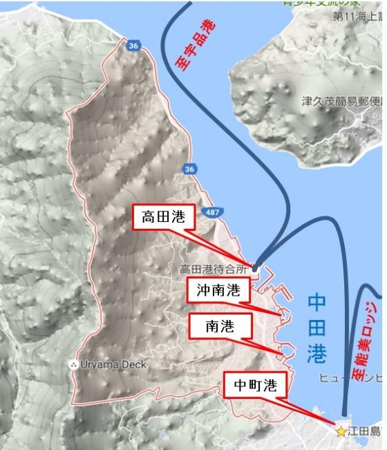高田・中町航路図
