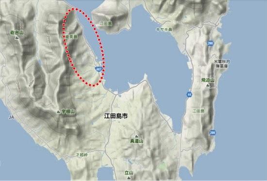 2)江田島町南部 高田地区