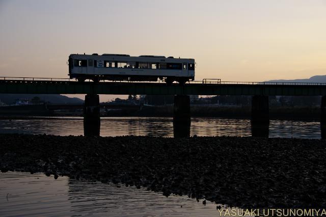 夕方の松浦鉄道