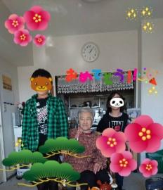 おばあちゃんと曾孫