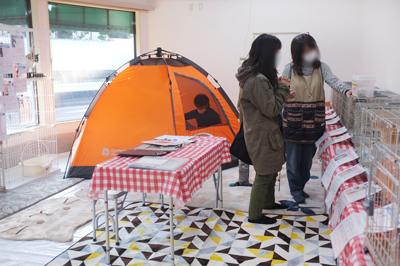 お見合いテントもあります。