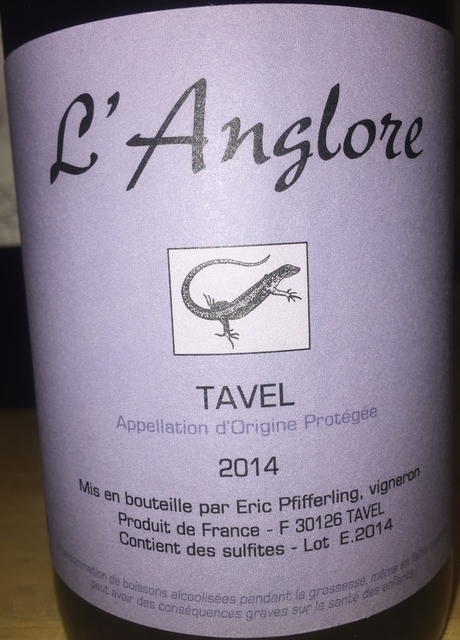 Tavel lAnglore Eric Pfifferling 2014
