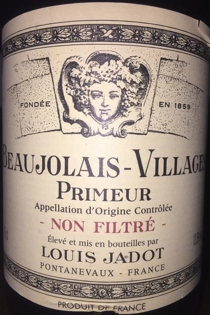 Beaujolais Village Primeur Non Filtre Louis Jadot 2015