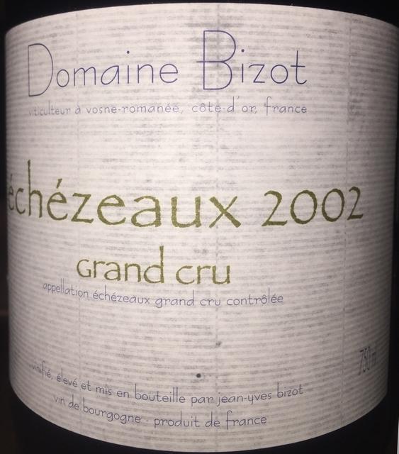 Echezeaux Grand Cru Domaine Bizot 2002