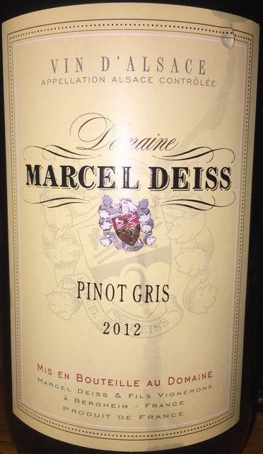 Marcel Deiss Pinot Gris 2012