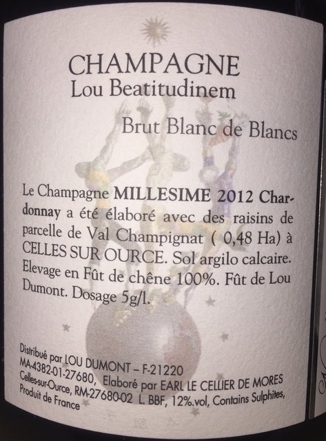 Sanctitudo Brut Blanc de Blancs Lou Beatitudinem 2012 part2