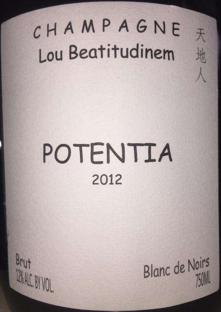 Potentia Brut Blanc de Noirs Lou Beatitudinem 2012 part1