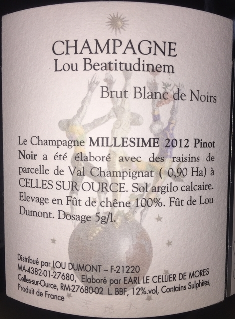 Potentia Brut Blanc de Noirs Lou Beatitudinem 2012 part2