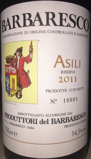 Barbaresco Produttori del Barbaresco Asili Reserva 2011 Part1
