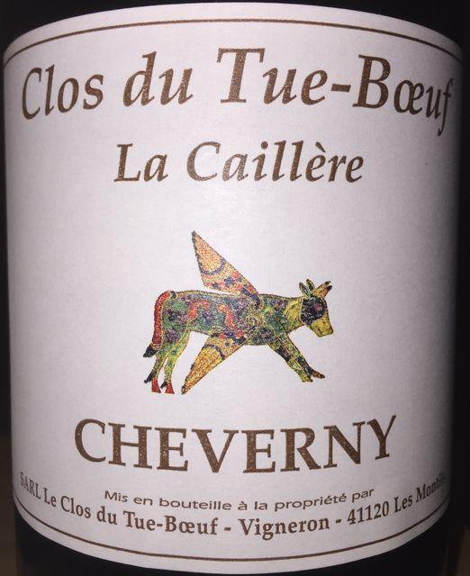 Cheverny Rouge La Caillere Clos du Tue Boeuf 2015 part1