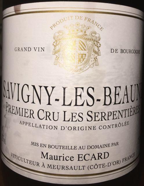 Savigny les Beaune Premier Cru Les Serpentiere Maurice Ecard 2011