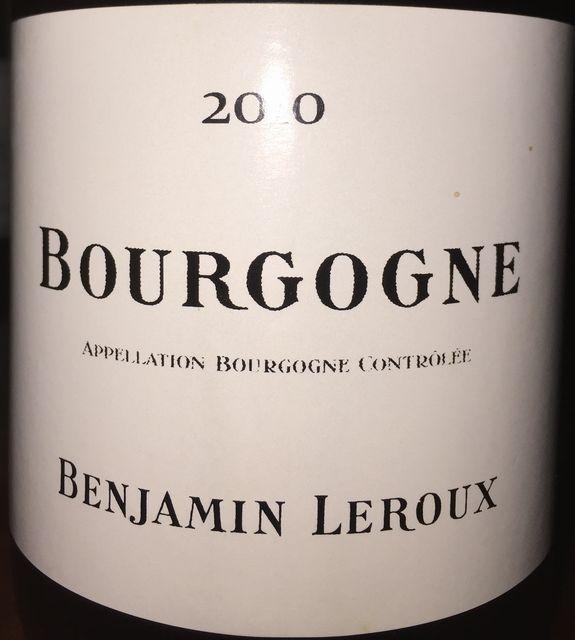 Bourgogne Benjamin Leroux 2010