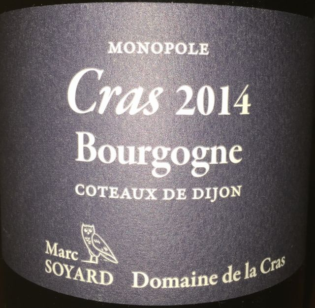 Cras Bourgogne Domaine de la Cras Marc Soyard 2014