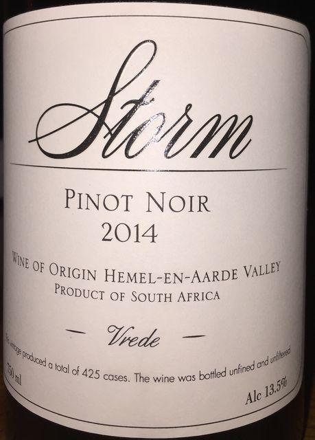 Storm Pinot Noir Vrede 2014