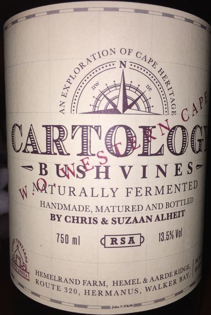 Cartology Bushvines Naturally Fermented Chris and Suzaan Alheit 2014 part1