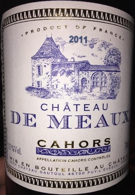 Chateau de Meaux Cahors 2011
