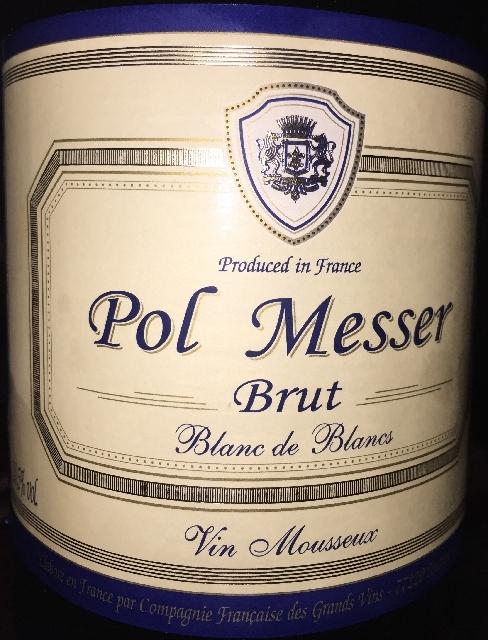 Pol Messer Brut Blanc de Blancs Vin Mousseux