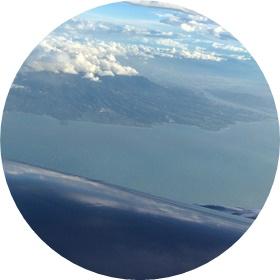 4)台湾上空だ