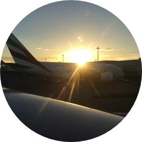 5)夕日がまぶしい