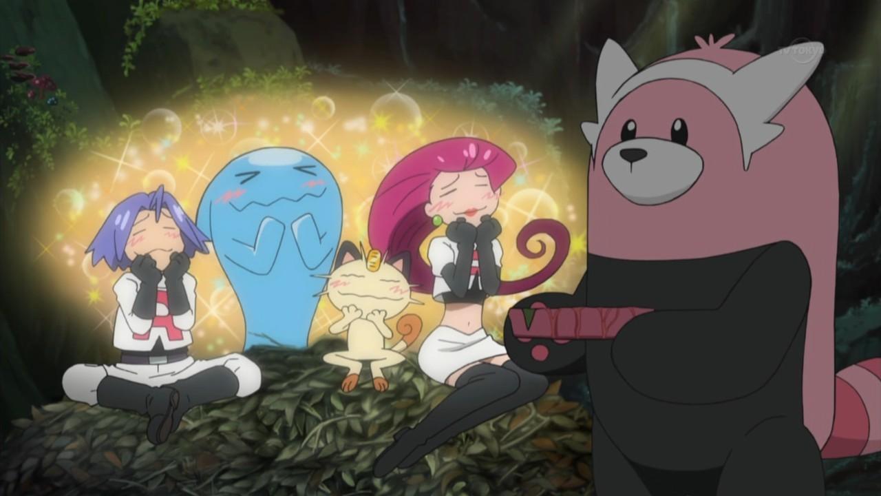 木陰の岩の眠り猫 ポケットモンスターサン・ムーン 4話「モクロー登場